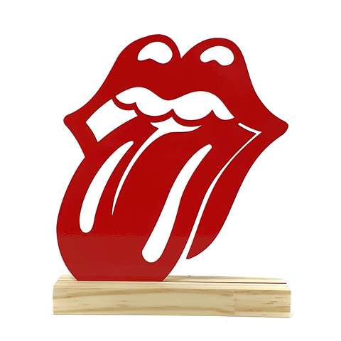 Escultura de Metal - Rolling Stones, Decorativo do Studio Makers Manufatura