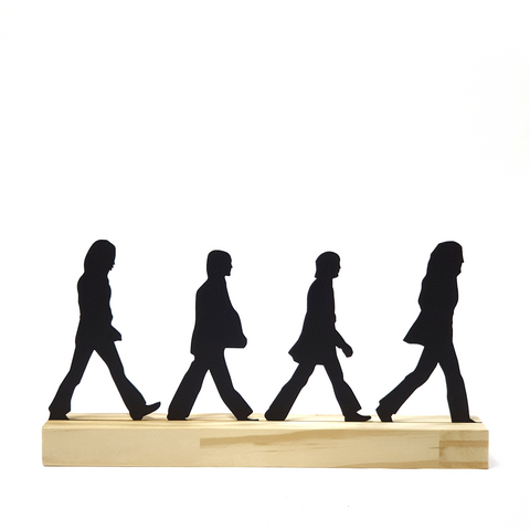 Escultura de Metal - Beatles - Abbey Road, Decorativo do Studio Makers Manufatura