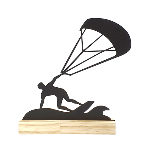Escultura de Metal - Esporte - Kitesurf, Decorativo do Studio Makers Manufatura
