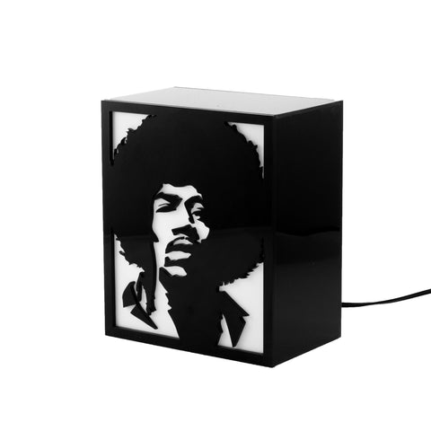 Luminária Backlight - Jimi Hendrix, Luminária do Studio Makers Manufatura
