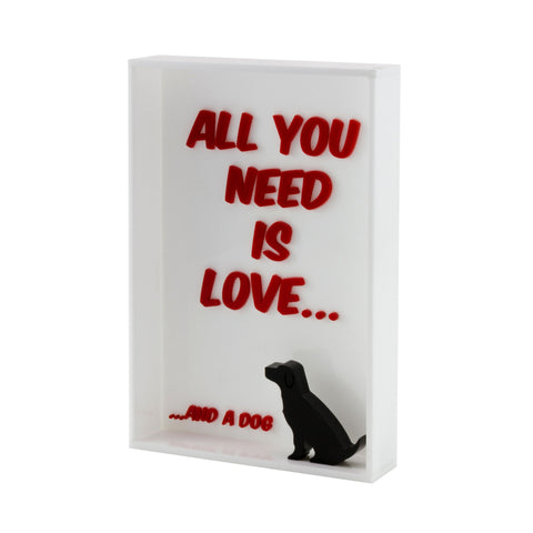 Quadrinho All You Need Is Love, Decorativo do Studio Makers Manufatura