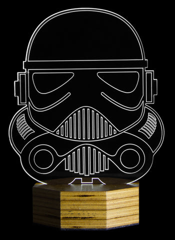 Luminária EDGE - StarWars - StormTrooper, Luminária do Studio Makers Manufatura