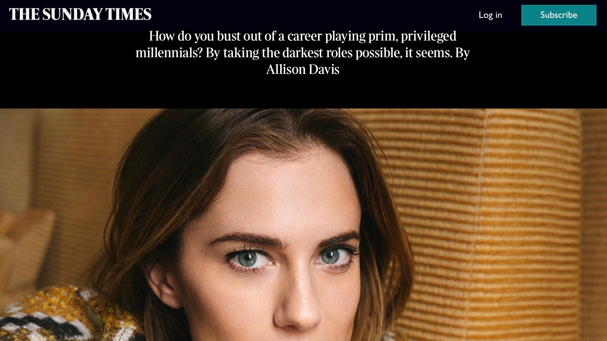 The Sunday Times / May 2019 / Allison Williams