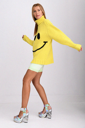 JoosTricot Limelight Smiley Boyfriend Turtleneck