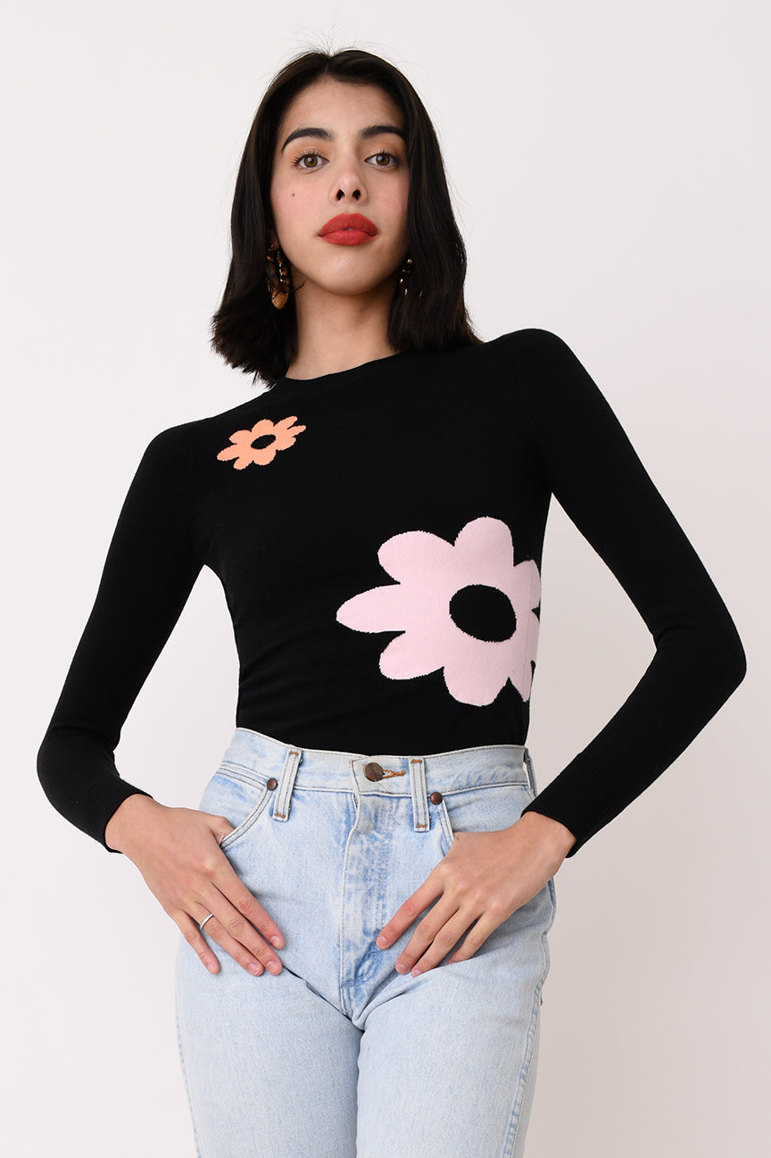 Coal Flower Peachskin Crew Neck
