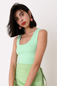 JoosTricot Solid Mint Sleeveless Scoop Neck