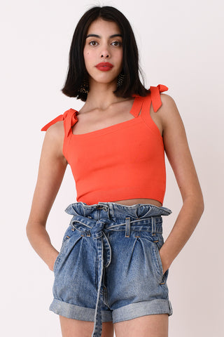 JoosTricot Red Crop Camisole