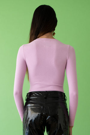 JoosTricot Solid Wild Rose Peachskin Crew Neck