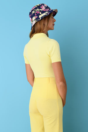 Lemon Peachskin Polo
