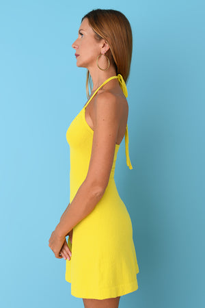 Yellow Terry Mini Dress
