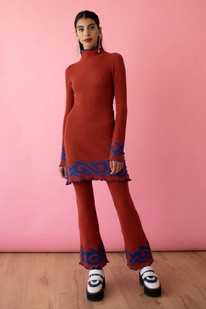 Paprika Tribal Mini Dress