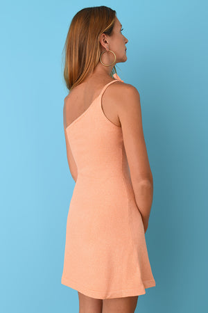 JoosTricot Mango Lurex Asymmetric Mini Dress