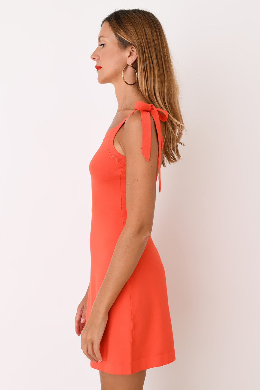 Red Viscose Camisole Dress