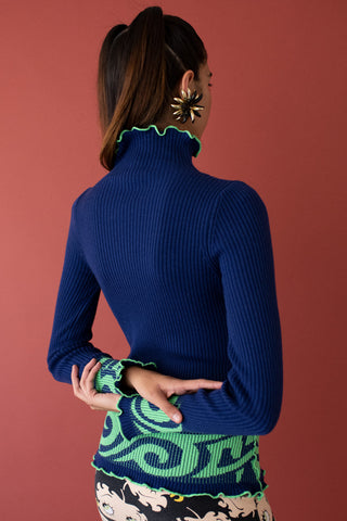 JoosTricot Matelot / Tree Frog Tribal Sweater