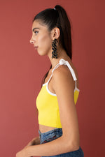 JoosTricot Blazing Yellow Crop Camisole