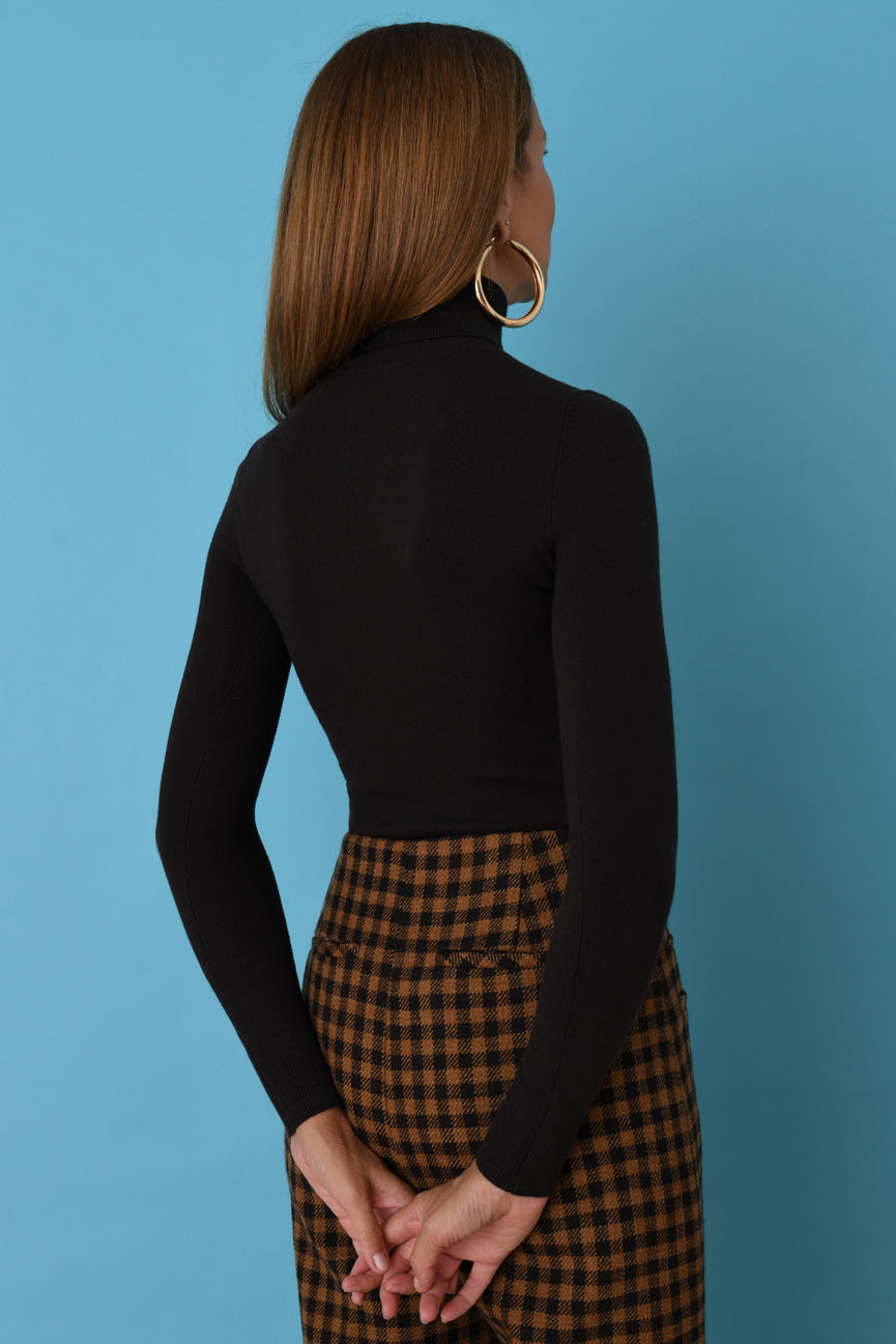 Cocoa Peachskin Turtleneck