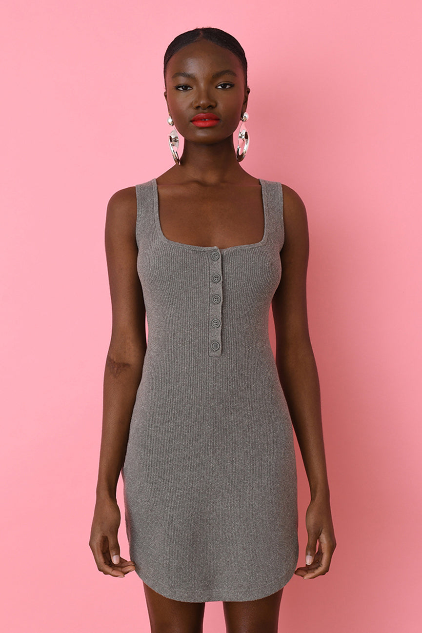 Forest Road Ribbed Mini Tank Dress
