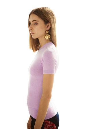 Lavender Hill Peachskin Crew Neck T