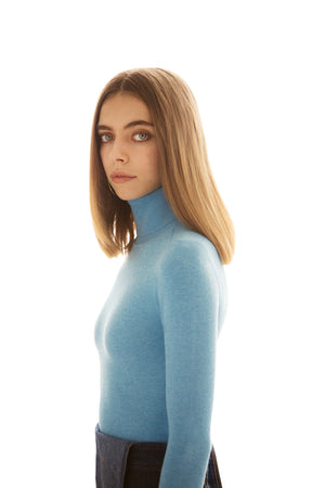 Halcyon Peachskin Turtleneck