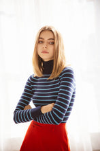 JoosTricot Striped Navy/Halcyon Turtleneck