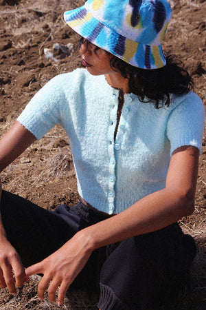 Fuzz Glacial Short Sleeve Crop Cardigan