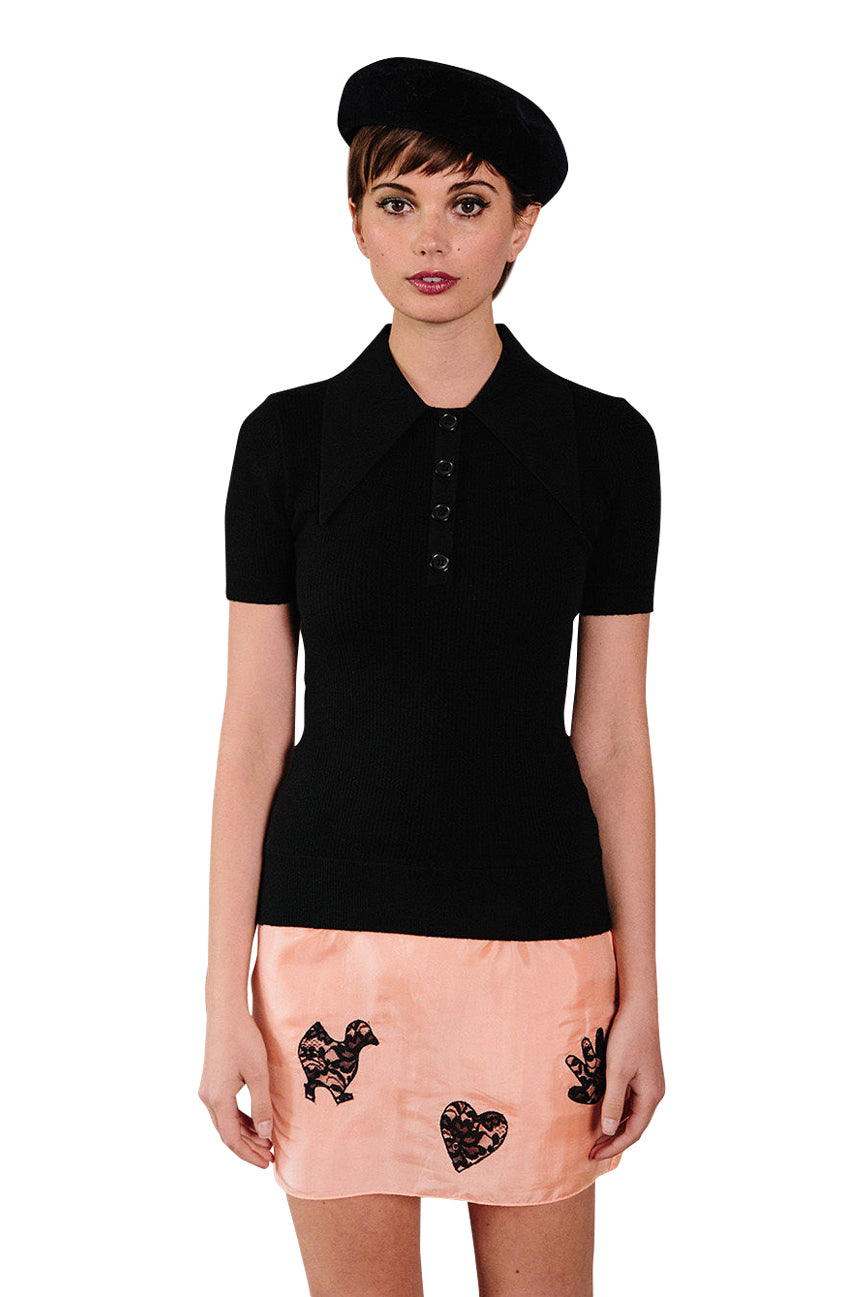 Coal Peachskin Polo