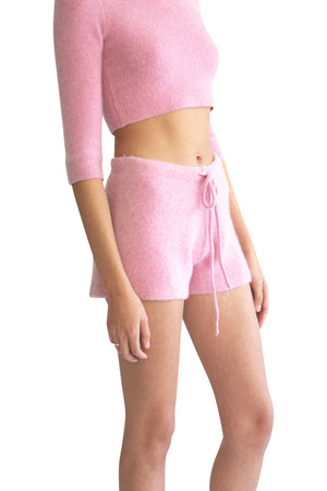 JoosTricot Cherry Cream Cuddle Cashmere Shorts