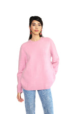 Cherry Cream Cuddle Cashmere Boyfriend Sweater
