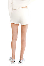JoosTricot White Ice Cuddle Cashmere Shorts