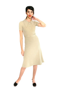 JoosTricot Solid Dewy Moss Peachskin Midi Polo Dress