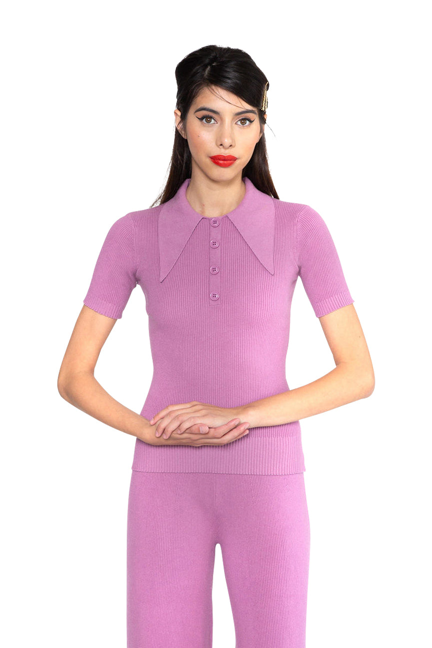 JoosTricot Solid Orchid Dusk Peachskin Polo