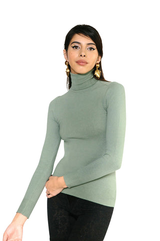 JoosTricot Solid Turtle Bay Peachskin Turtleneck