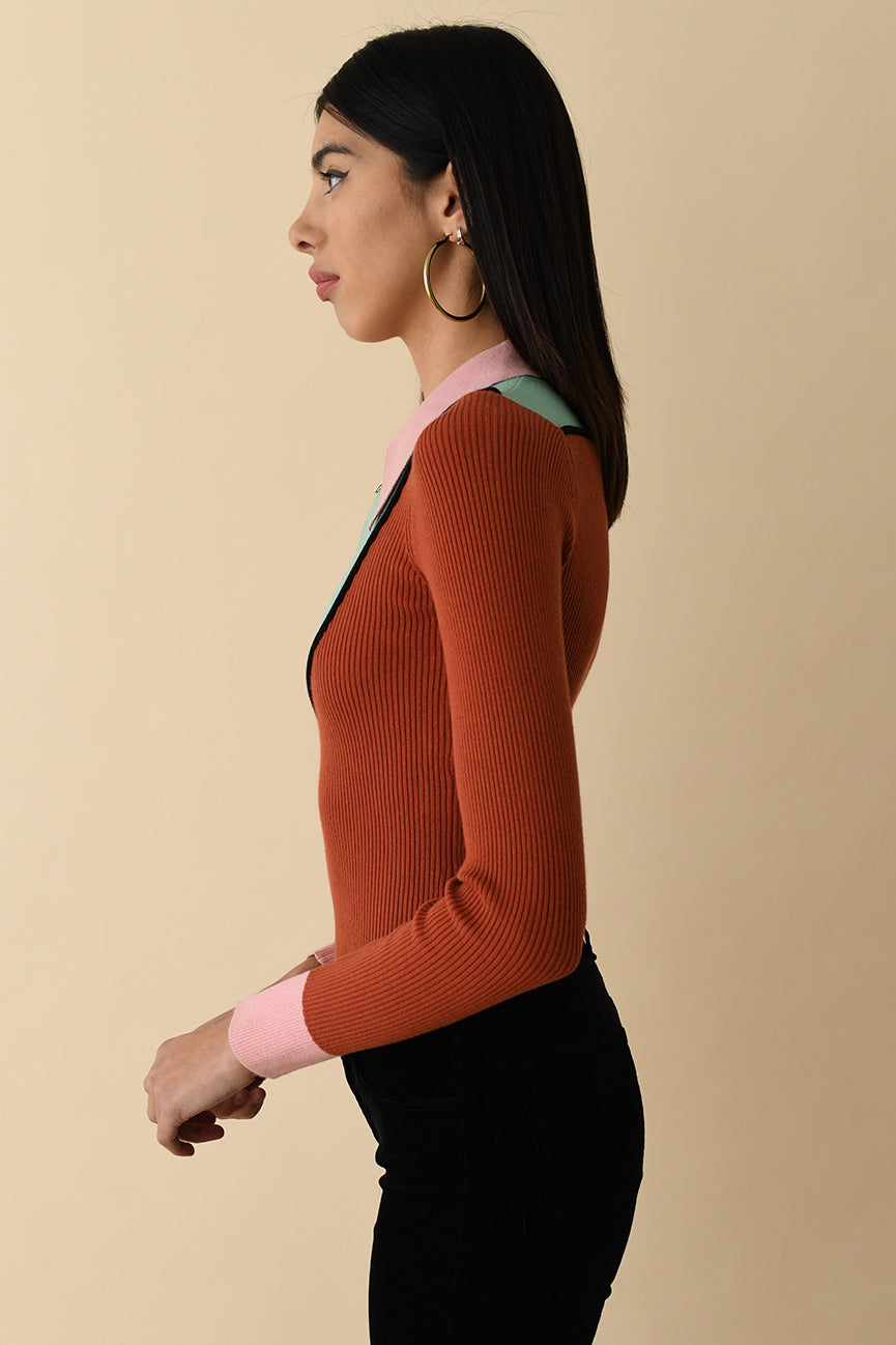 Long Sleeve Western Peachskin Polo