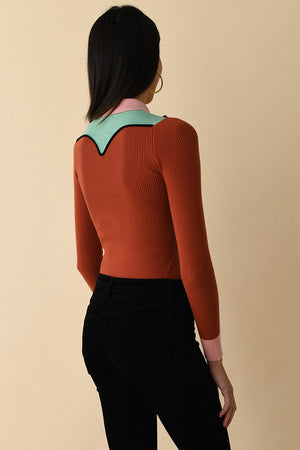 JoosTricot Long Sleeve Western Peachskin Polo