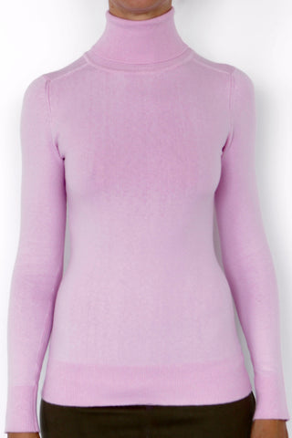 JoosTricot Solid Wild Rose Peachskin Turtleneck