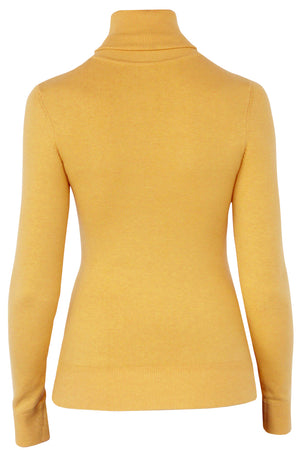 JoosTricot Solid Honey Gold Peachskin Turtleneck