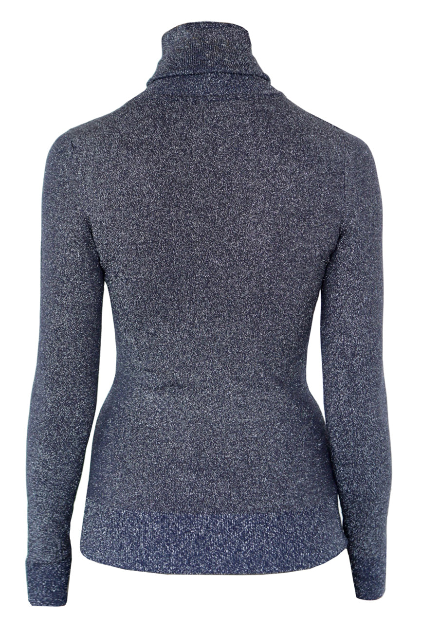 JoosTricot Dark Navy Lurex Turtleneck