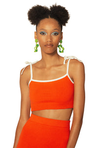 JoosTricot Red Flame Crop Camisole