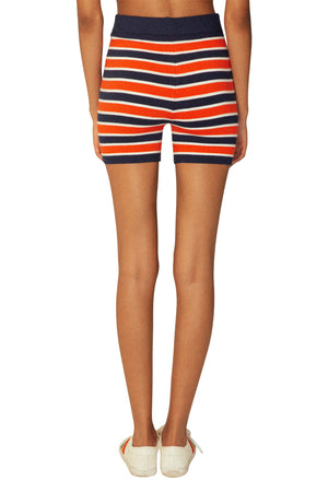 JoosTricot Marine Stripe Peachskin Bike Shorts