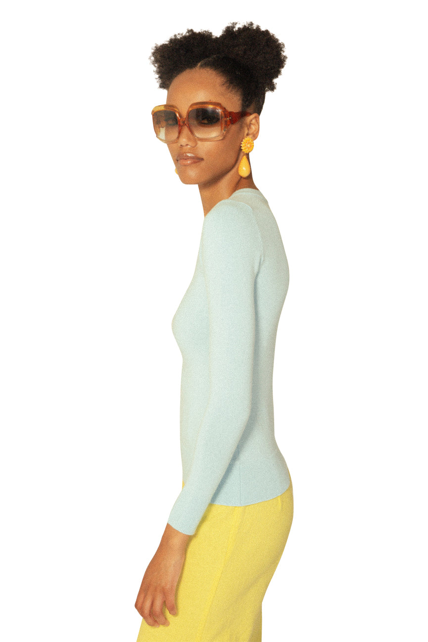 JoosTricot Solid Clear Water Peachskin V neck