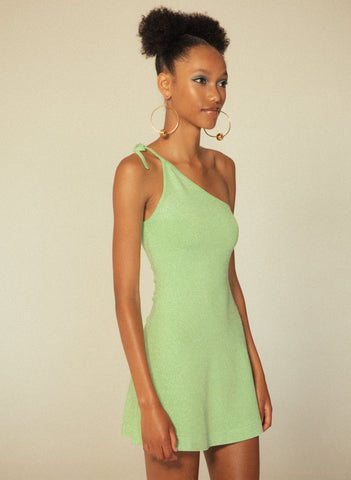 JoosTricot Mint Lurex Asymmetric Camisole Dress