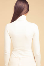 JoosTricot Solid Ice Water Peachskin Turtleneck