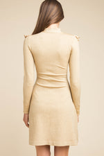JoosTricot Gold Lurex Ruffle Dress