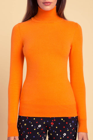 JoosTricot Solid Spark Peachskin Turtleneck