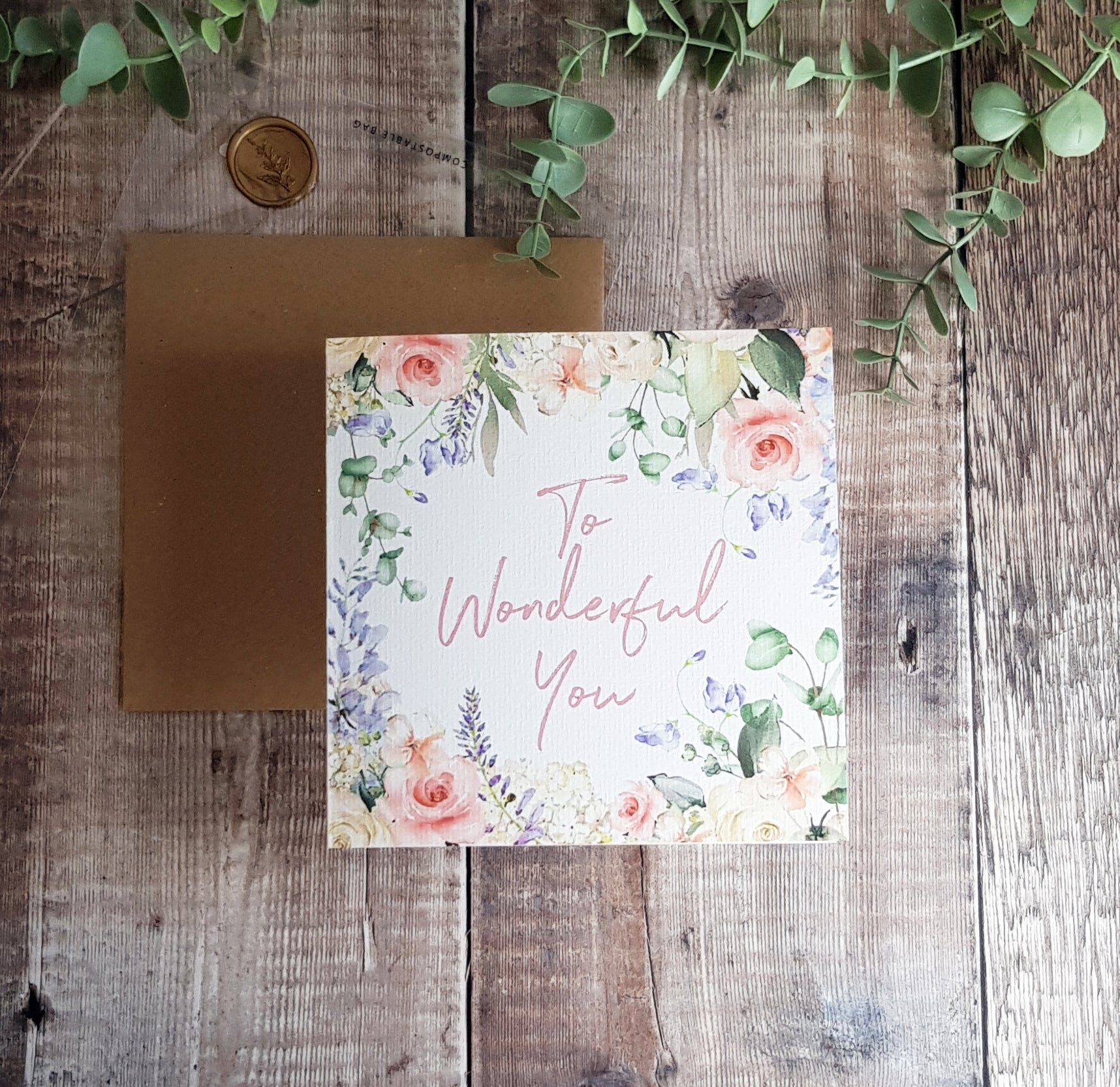 'To Wonderful You' Greetings Card