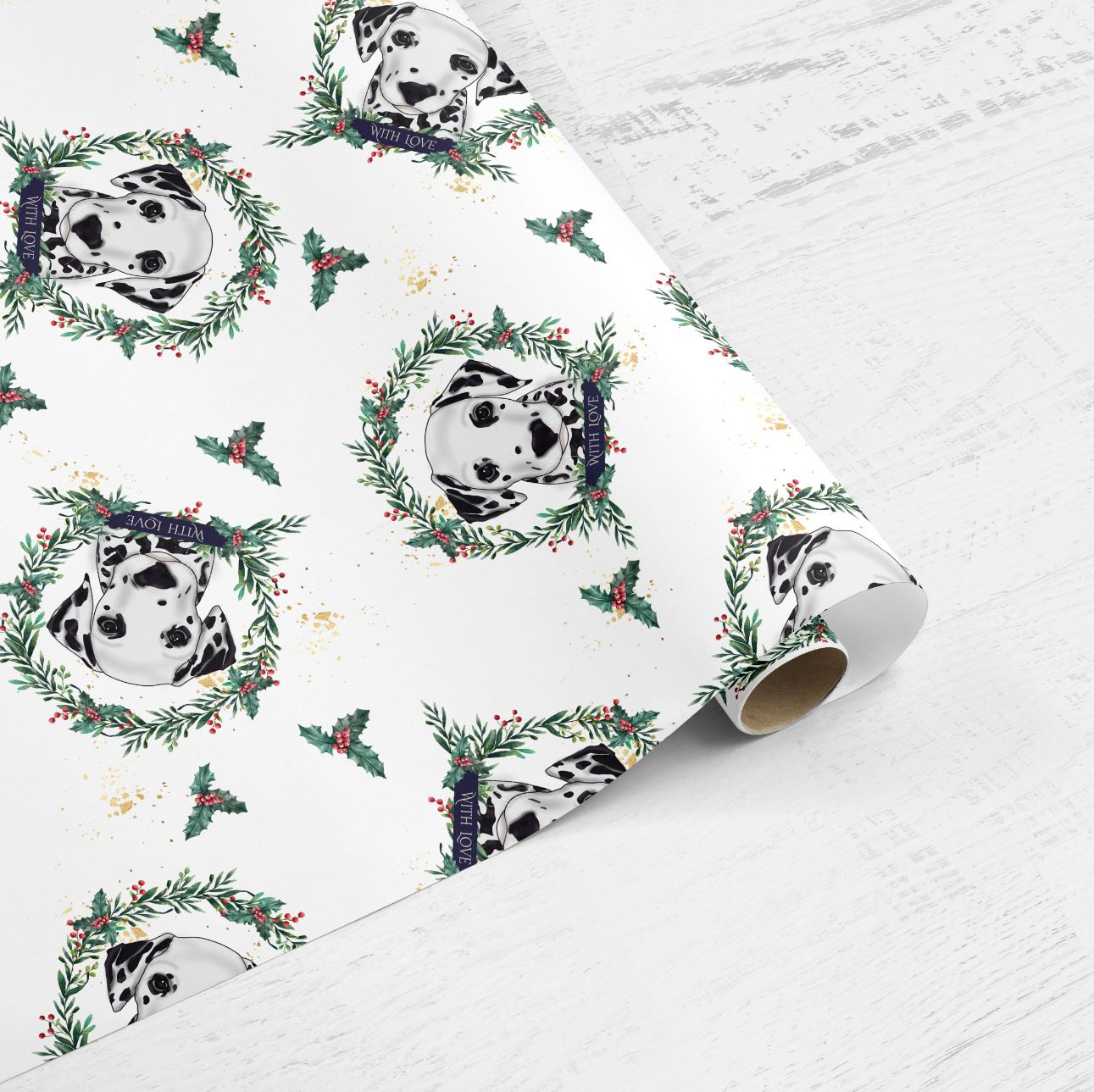 Luxury 100gsm Dalmatian Wrapping Paper