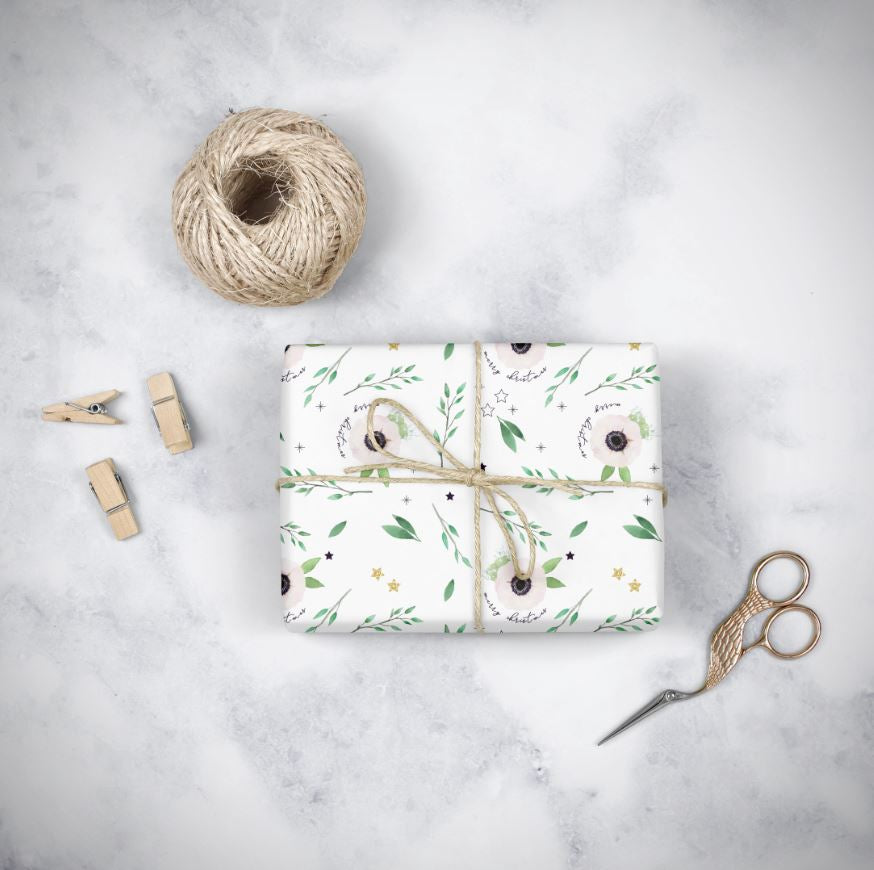 Christmas Anemone Wrapping Paper