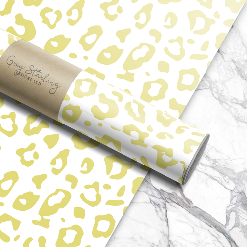 Chartreuse Leopard Wrapping Paper