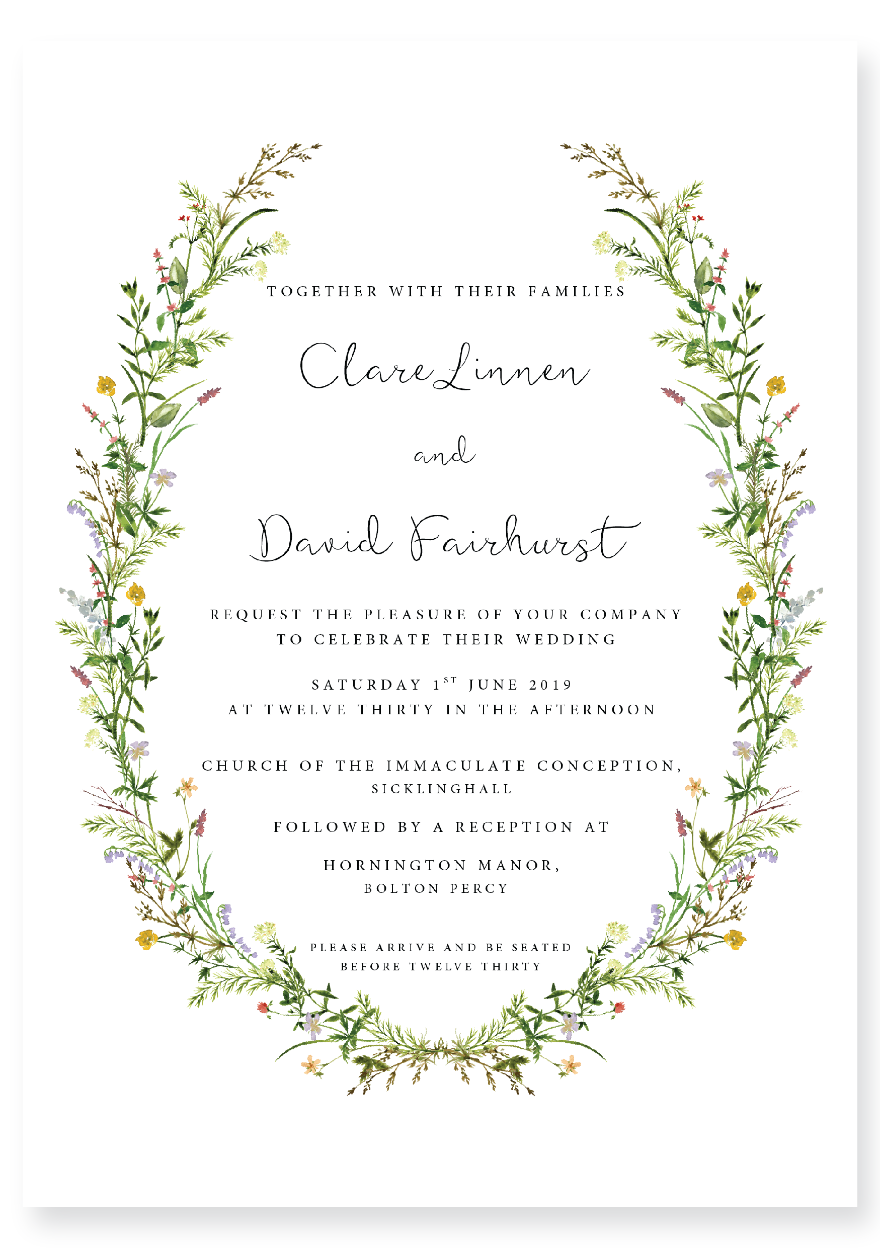 The Flowers of the Valley Collection - Wedding Invitation