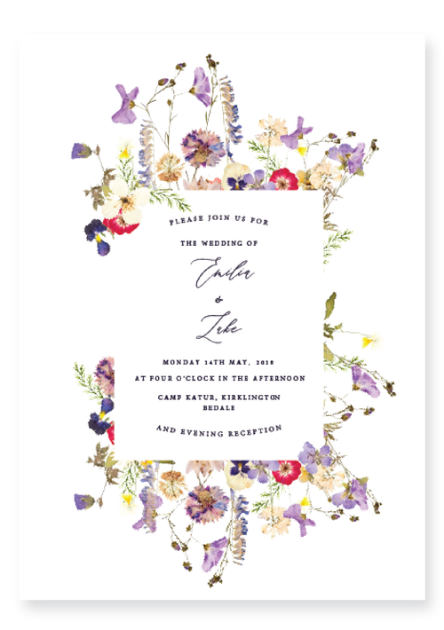 The Pressed Flowers Collection - Wedding Invitation